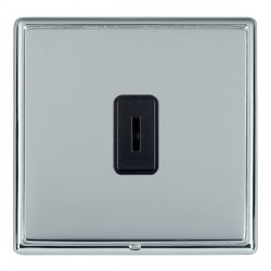 Hamilton Linea-Rondo CFX Bright Chrome/Bright Steel 1 Gang 2 Way Key Switch with Black Insert