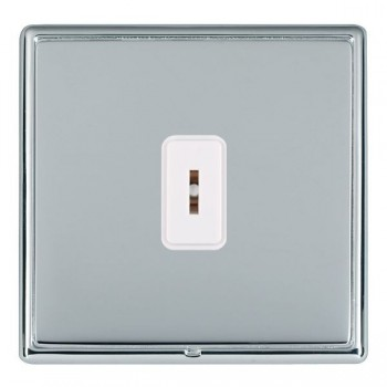 Hamilton Linea-Rondo CFX Bright Chrome/Bright Steel 1 Gang 2 Way Key Switch with White Insert
