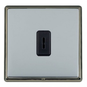 Hamilton Linea-Rondo CFX Black Nickel/Bright Steel 1 Gang 2 Way Key Switch with Black Insert