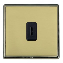 Hamilton Linea-Rondo CFX Black Nickel/Polished Brass 1 Gang 2 Way Key Switch with Black Insert
