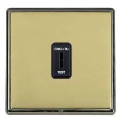 Hamilton Linea-Rondo CFX Black Nickel/Polished Brass 1 Gang 2 Way Key Switch 'EMG LTG TEST' with Black Insert