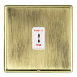 Hamilton Linea-Rondo CFX Polished Brass/Antique Brass 1 Gang 2 Way Key Switch 'EMG LTG TEST' with White I...
