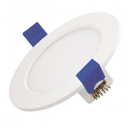 Ovia Polypanel 6W 3000K White Fixed LED Downlight