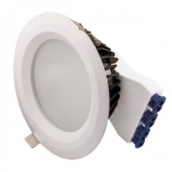 Ovia Inceptor Iona 190mm 20W Colour Temp Adjustable 1-10V Dimmable White Fixed LED Downlight with Emergen...