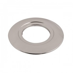 Ovia 130mm Chrome Downlight Converter Plate with 75mm Aperture