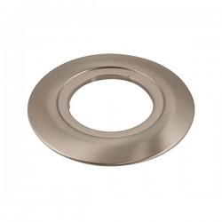 Ovia 130mm Satin Chrome Downlight Converter Plate with 75mm Aperture