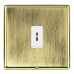 Hamilton Linea-Rondo CFX Polished Brass/Antique Brass 1 Gang 2 Way Key Switch with White Insert