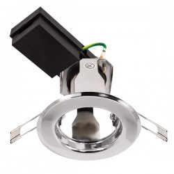 Ovia Baylis 82mm 50W Chrome Fixed GZ/GU10 Downlight
