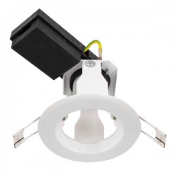 Ovia Baylis 82mm 50W White Fixed GZ/GU10 Downlight