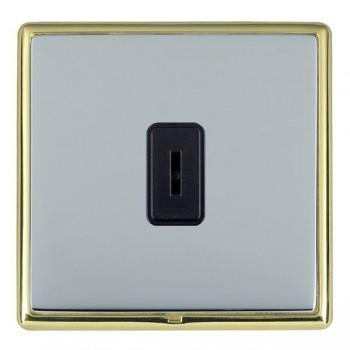 Hamilton Linea-Rondo CFX Polished Brass/Bright Steel 1 Gang 2 Way Key Switch with Black Insert