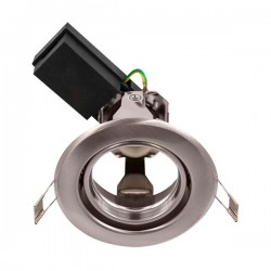 Ovia Baylis 92mm 50W Satin Chrome Adjustable GZ/GU10 Downlight