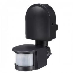 Ovia 180° Multi-Directional Wall Mounted IP44 Black PIR Sensor
