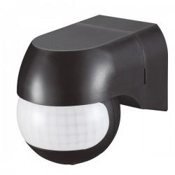 Ovia 180° Rotatable Wall Mounted IP44 Black PIR Sensor