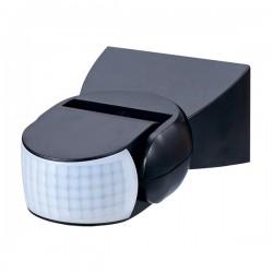 Ovia 180° Multi-Directional Wall Mounted IP65 Black PIR Sensor