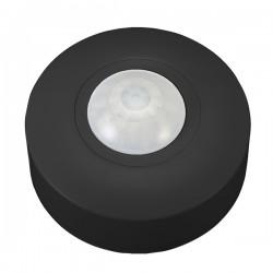 Ovia 360° Compact Surface Mounted IP44 Black PIR Sensor