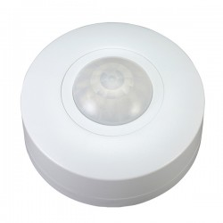 Ovia 360° Compact Surface Mounted IP44 White PIR Sensor