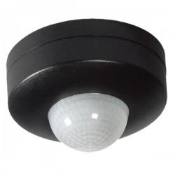 Ovia 360° Surface Mounted IP44 Black PIR Sensor