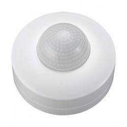 Ovia 360° Surface Mounted IP44 White PIR Sensor