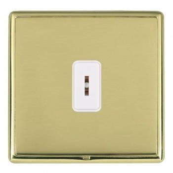 Hamilton Linea-Rondo CFX Polished Brass/Polished Brass 1 Gang 2 Way Key Switch with White Insert