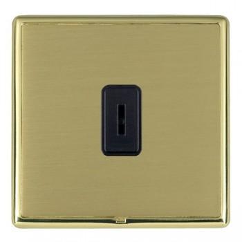 Hamilton Linea-Rondo CFX Polished Brass/Satin Brass 1 Gang 2 Way Key Switch with Black Insert