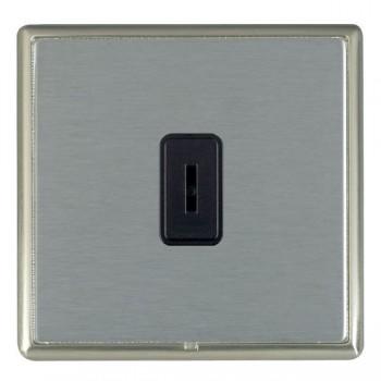 Hamilton Linea-Rondo CFX Satin Nickel/Satin Steel 1 Gang 2 Way Key Switch with Black Insert