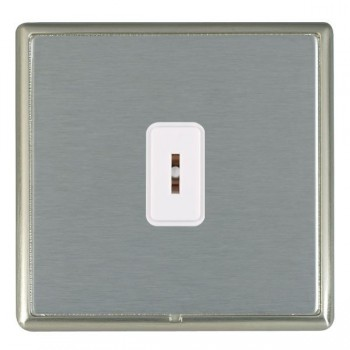 Hamilton Linea-Rondo CFX Satin Nickel/Satin Steel 1 Gang 2 Way Key Switch with White Insert