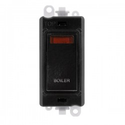 Click GridPro Black 20AX DP Switch Module Marked 'BOILER' with Neon and Black Insert