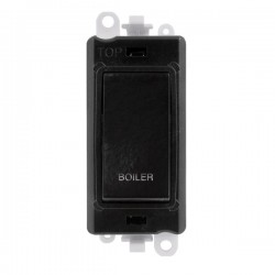 Click GridPro Black 20AX DP Switch Module Marked 'BOILER' with Black Insert