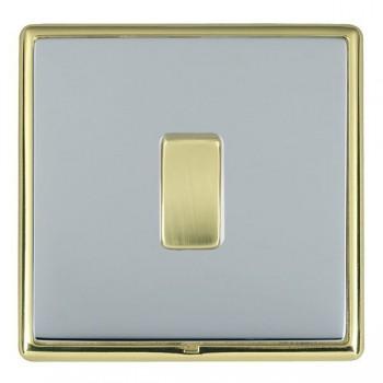 Hamilton Linea-Rondo CFX Polished Brass/Bright Steel 1 Gang 20amp 2 Way Rocker with White Insert