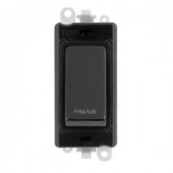 Click GridPro Black Nickel 20AX DP Switch Module Marked 'FRIDGE' with Black Insert