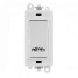 Click GridPro Polar White 20AX DP Switch Module Marked 'FRIDGE FREEZER' with White Insert