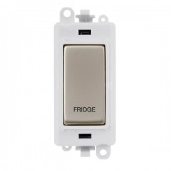 Click GridPro Pearl Nickel 20AX DP Switch Module Marked 'FRIDGE' with White Insert