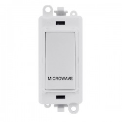Click GridPro Polar White 20AX DP Switch Module Marked 'MICROWAVE' with White Insert