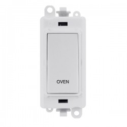 Click GridPro Polar White 20AX DP Switch Module Marked 'OVEN' with White Insert
