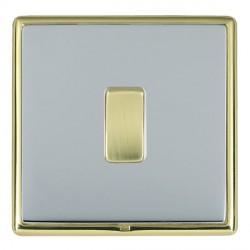 Hamilton Linea-Rondo CFX Polished Brass/Bright Steel 1 Gang 10amp 2 Way Rocker with White Insert