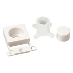 Click Minigrid MD150PW Polar White Dimmer Module Mounting Kit