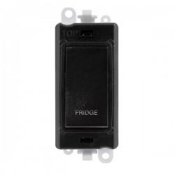 Click GridPro Black 20AX DP Switch Module Marked 'FRIDGE' with Black Insert