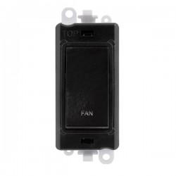 Click GridPro Black 20AX DP Switch Module Marked 'FAN' with Black Insert
