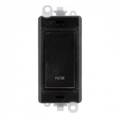 Click GridPro Black 20AX DP Switch Module Marked 'HOB' with Black Insert