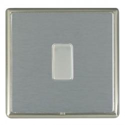Hamilton Linea-Rondo CFX Satin Nickel/Satin Steel 1 Gang 10amp 2 Way Rocker with White Insert