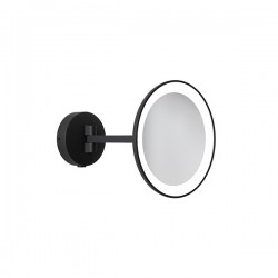 Astro Mascali Round Matt Black LED Bathroom Mirror Light