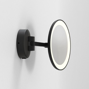 Astro Mascali Round Matt Black LED Bathroom Mirror Light