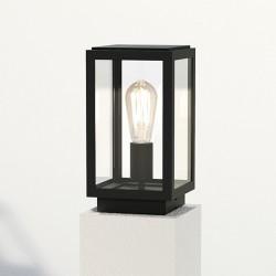 Astro Homefield Textured Black Outdoor Pedestal Light