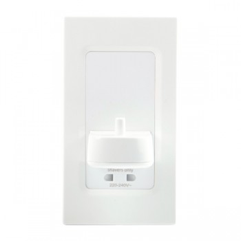 ProofVision White In-Wall Electric Toothbrush Charger and Shaver Socket