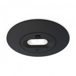 Ansell Merlin Black 5W Non-Maintained LED Emergency Downlight - Escape Route