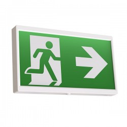 Ansell EndLED White 2.5W Maintained/Non-Maintained Lithium Exit Sign