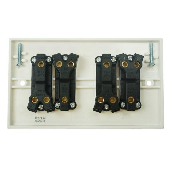 Bg White Pvc 4 Gang 2 Way Switch At Uk Electrical Supplies