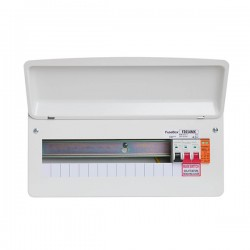 FuseBox F2 14 Way Consumer Unit - 100A Main Switch, T2 Surge Protection Device, Tail Clamp