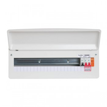 FuseBox F2 20 Way Consumer Unit - 100A Main Switch, T2 Surge Protection Device, Tail Clamp