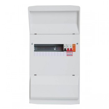 FuseBox F2 29 Way Consumer Unit - 100A Main Switch, T2 Surge Protection Device, 14/15 Double Bank